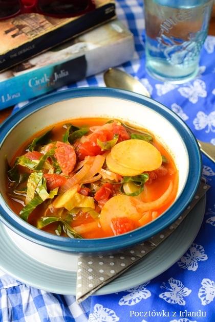 chorizo cabbage stew 22